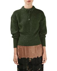 Topshop Unique - Feldon Wool and Cashmere Pullover - Lyst