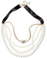 Cara - Multistrand Necklace - Lyst