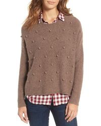 Madewell Bobble Pullover Sweater in Brown | Lyst