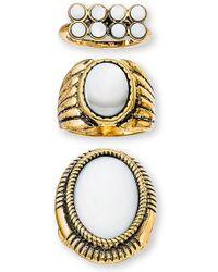 Steve Madden | Set Of 3 Rings | Lyst