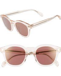 efaf345951f Oliver Peoples - Boudreau L.a. 48mm Square Sunglasses - Light Silk - Lyst
