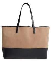 Pedro Garcia - East West Suede & Leather Tote - Lyst