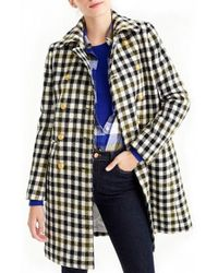 J.Crew - Oxford Check Double Breasted Coat - Lyst