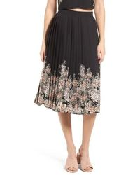 June & Hudson - Pleated Skirt - Lyst