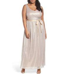 Marina - Metallic Gown - Lyst