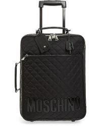Moschino - Quilted Rolling Suitcase - Lyst