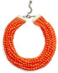 Zenzii - Beaded Multistrand Collar Necklace - Lyst