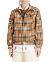 Burberry - Corfe Check Print Jacket - Lyst