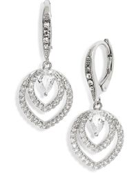 Jenny Packham - Crystal Drop Earrings - Lyst