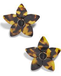 BaubleBar - Ashaya Resin Flower Earrings - Lyst