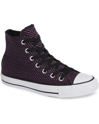 ebe4c9361857 Converse - Chuck Taylor All Star Winter Woven High Top Sneaker - Lyst