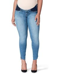 GOOD AMERICAN - Good Mama The Honeymoon Low Rise Cascade Hem Maternity Skinny Jeans - Lyst