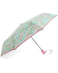 Lilly Pulitzer - Lilly Pulitzer Floral Print Telescoping Umbrella - Lyst