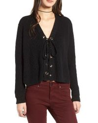 Lush - Lace-up Sweater - Lyst