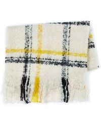 TOPMAN - Boucle Check Scarf - Lyst