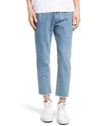 Obey - New Threat Skinny Fit Cut Off Jeans - Lyst