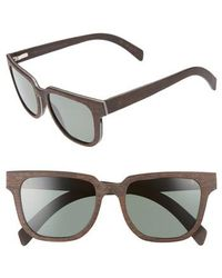 Shwood - Prescott 52mm Polarized Walnut Wood Sunglasses - Dark Walnut/ G15 - Lyst