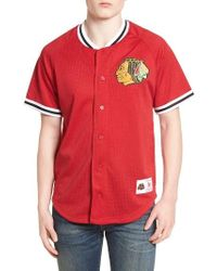 Mitchell   Ness - Nhl Seasoned Pro - Chicago Blackhawks Mesh Shirt - Lyst 9479c8697