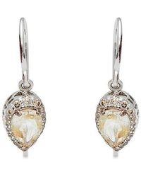 Anna Sheffield - Pear Rosette Diamond & Golden Rutilated Quartz Drop Earrings (nordstrom Exclusive) - Lyst