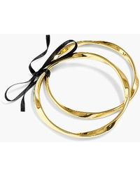 J.Crew | Twisted Antiqued Goldtone Set Of 2 Bangles | Lyst