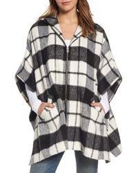 Treasure & Bond - Hooded Plaid Cape - Lyst