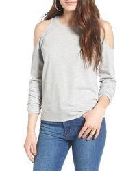 Love, Fire - Cold Shoulder Sweatshirt - Lyst