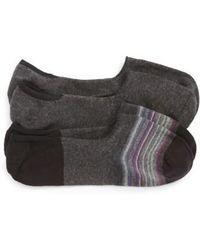 Calibrate - 2-pack Cotton Blend Liner Socks, Black - Lyst