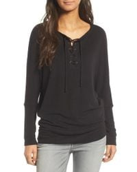Cupcakes And Cashmere - Danton Lace-up Sweatshirt - Lyst