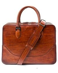 Saks Fifth Avenue - Large Leather Briefcase - Lyst