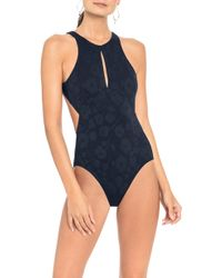 Robin Piccone - Ana High Neck One-piece Swimsuit - Lyst