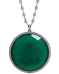 Susan Hanover - Large Semiprecious Stone Pendant Necklace - Lyst