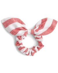 J.Crew | Stripe Bow Hair Tie | Lyst