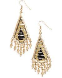Cara - Beaded Drop Earrings - Lyst