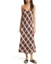 Vince - Plaid Midi Slipdress - Lyst
