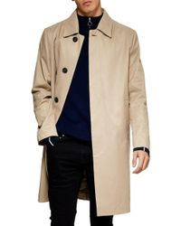 TOPMAN - Single Breasted Trench Coat - Lyst