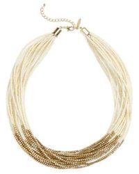 Natasha Couture - Natasha Beaded Multistrand Necklace - Lyst