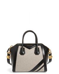 07cc4a4daa Givenchy - Small Antigona Canvas   Leather Satchel - Lyst
