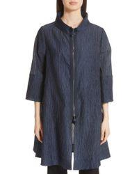 Emporio Armani - Crinkle Cotton & Silk Blend Jacket - Lyst