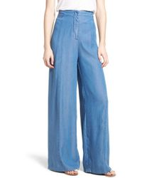 Bishop + Young - O-ring Wide Leg Denim Pants - Lyst