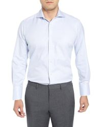 David Donahue - Trim Fit Solid Dress Shirt - Lyst