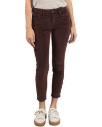Volcom - Corduroy Ankle Skinny Jeans - Lyst