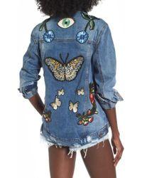 ARRIVE - Eloise Embroidered Denim Jacket - Lyst