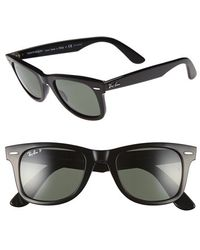 ray ban classic wayfarer black  Ray-ban Outsiders Oversized Wayfarer Sunglasses in Black