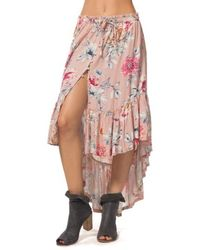 Rip Curl - Wildflower High/low Maxi Skirt - Lyst
