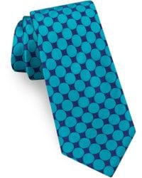 Ted Baker - Geometric Circle Silk Tie - Lyst