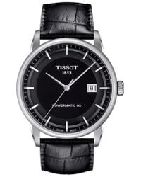 Tissot - Luxury Gts Automatic Leather Strap Watch - Lyst