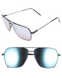 Electric - 'av2' 59mm Navigator Sunglasses - Midnight/ Rose Sky Blue Chrome - Lyst