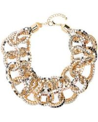 Natasha Couture - Box Chain Bib Necklace - Lyst