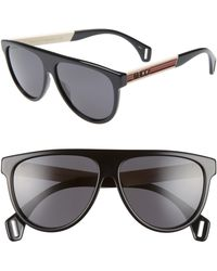 8339feb449 Gucci 1115 s 59mm Mirror Aviator Sunglasses in Black for Men - Lyst