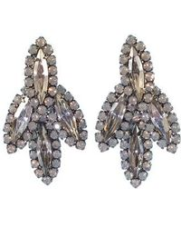 Elizabeth Cole - Peite Becall Crystal Drop Earrings - Lyst